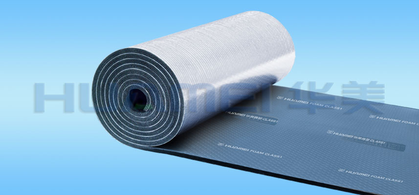Foil-clad Rubber Foam Insulation Materials